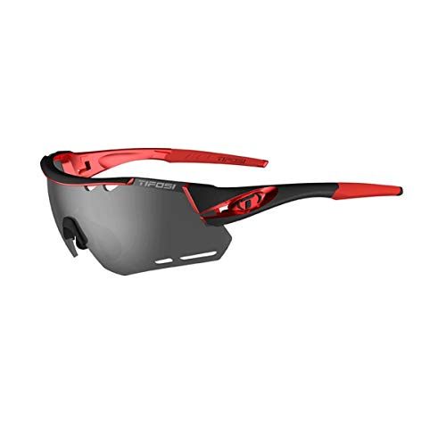 - Tifosi Optics Alliant Sunglasses Black/Red/Smoke/AC Red/Clear, One Size - Men's