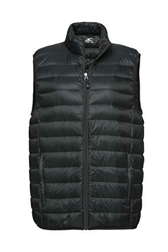 (XPOSURZONE Men Packable Lightweight Down Vest Outdoor Puffer Vest Deep Forest S)
