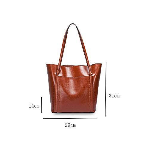 Diseño Clásico Mujeres Señor Shopper Pu Damas De Bolso Hombro Brown WB08xwgqR0