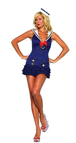 Leg Avenue Womens Sweetheart Sailor Fairytale Outfit Fancy Dress Sexy Costume, M/L (10-14)