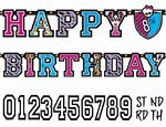 Amscan Freaky Fab Monster High Happy Birthday Add-an-Age Customizable Jumbo Letter Banner Others Party Supplies (6 Piece)