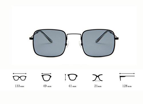 Eyewear Sol Metal Unisex Marco Aviador Square Sunglasses Gafas LINNUO Retro de Blanco Hombres Marco Mujer Plata de Rtx4qwx8