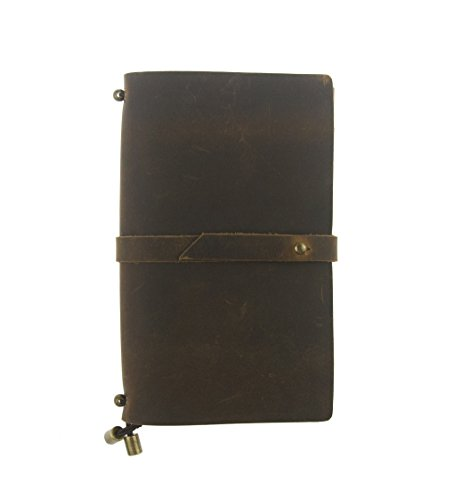 UNIQUE HM&LN Genuine Leather Journal Planner Organizer - Academic Monthly & Daily Daytimer - to Achieve Goals - Improve Productivity - Refillable & Handmade - Gratitude & Passion 2019