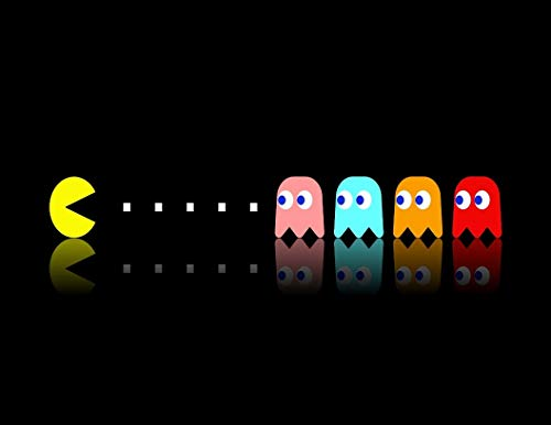 Pac-Man 2 Ghosts Inky Blinky Clyde Pinky Edible Cake Topper Image ABPID06871 - 1/2 sheet