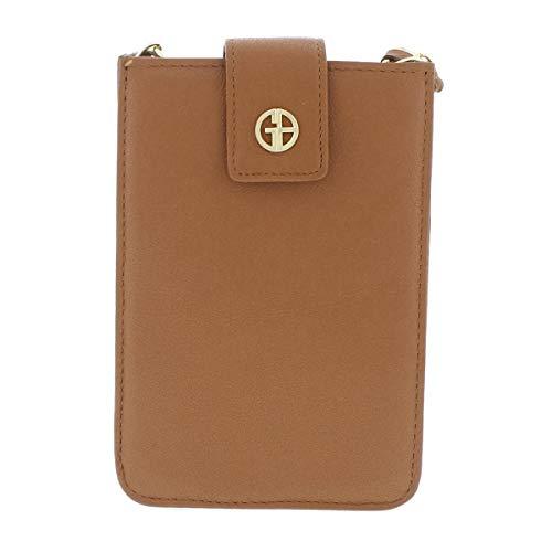 Giani Brown Medium Leather Nappa Handbag Bernini Smartphone Clutch Crossbody Womens vxZvqFr