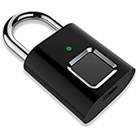 Yantan Candado inteligente para puerta con huellas dactilares, IP65, resistente al agua, digital, portátil, con USB, sin…