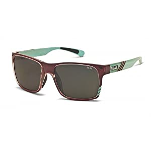 Zeal Optics Brewer Polarized Sunglasses - Caramel Turquoise Gloss Frame with Dark Grey Lens