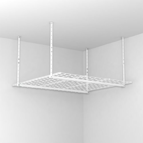HyLoft 00540 45-Inch-by-45-Inch Overhead Storage System, White