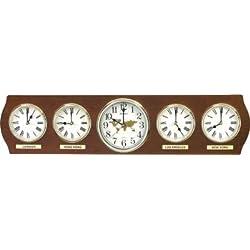 Rhythm Clocks, Time Zones Wall Clock