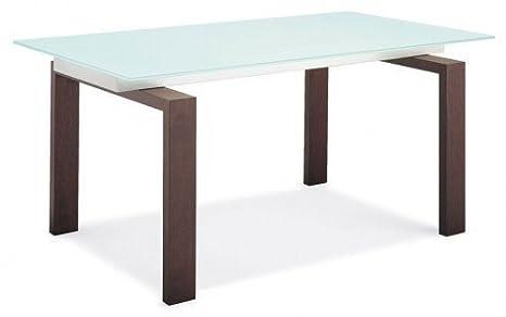 Tavoli Da Pranzo In Legno E Vetro : Calligaris azione tavolo da pranzo in legno di noce e vetro