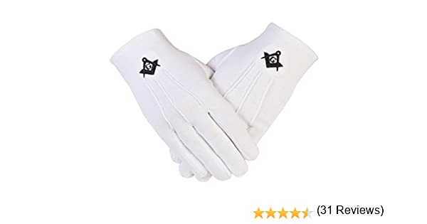 Gloves4masons PCI de la Logia de símbolo masónico con guantes de ...