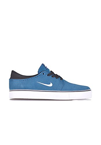 Nike - Zapatillas de skateboarding de ante para hombre azul Blue force/white-black-gum light brown