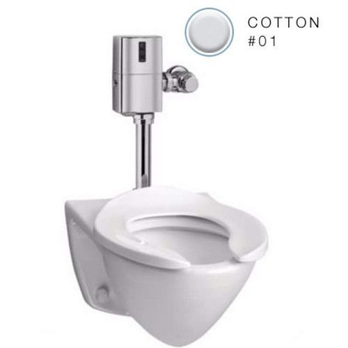 Toto CT708EVGNo.01 Commercial Flushometer High Efficiency Toilet-1.28-GPF, Back Inlet Spud, Cotton