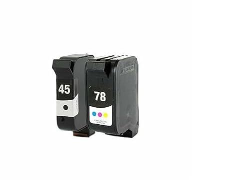 Cartouches dencre 51645 a & c6578 a compatible hp 45 et 78 combo