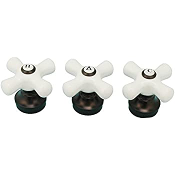 Porcelain Handle 3 Pieces Fits Delta 3 Handle Shower