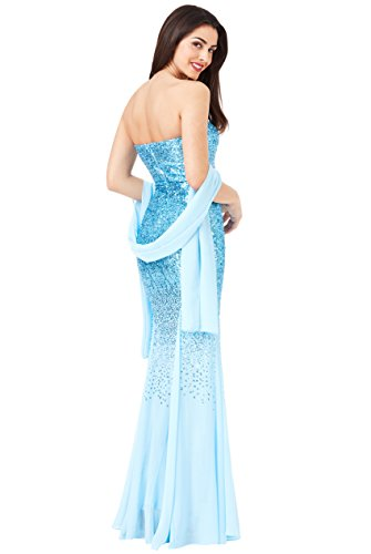Kleid Goddiva size One Damen blau blau 5q0nrpP6qx