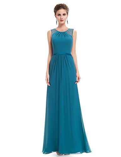 Ever-Pretty Womens Sleeveless Round Neckline Wedding Guest Dress 8 US Teal