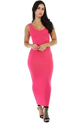 New Frau Pink Maxi Weste Kleid Büro Kleid Casual Abend Party tragen ...