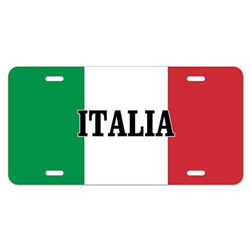 zaeshe3536658 Italia Italy Italian Flag Novelty Metal Vanity Tag License Plate by zaeshe3536658