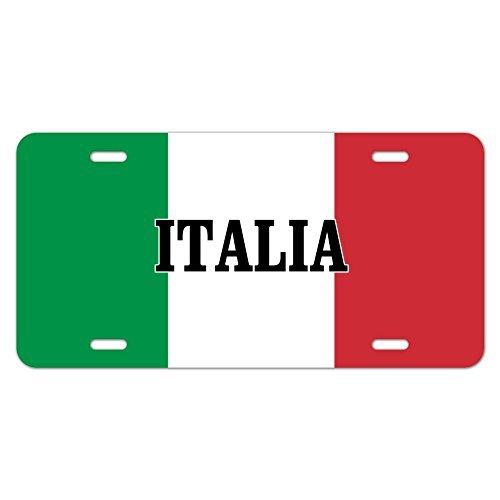 zaeshe3536658 Italia Italy Italian Flag Novelty Metal Vanity Tag License Plate Auto Tag 12 x 6 inch. by zaeshe3536658