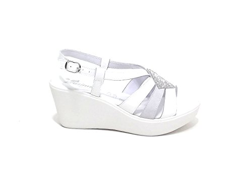 SUSIMODA Sandalias de Vestir Para Mujer Blanco Blanco y Gris