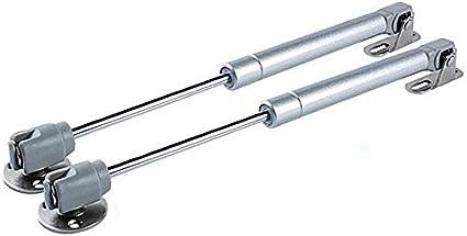 Toolstar Lot de 2 v/érins /à gaz /à fermeture amortie avec vis argent