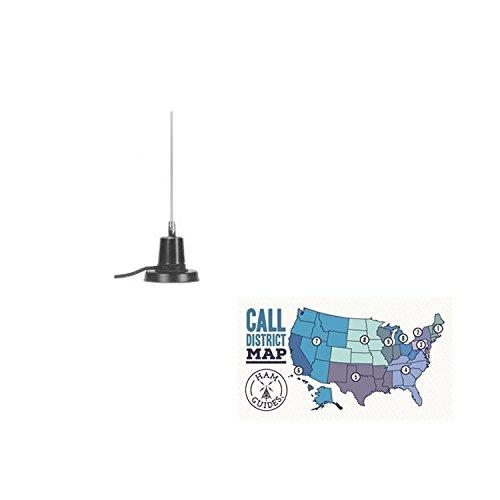 MFJ Magmount antenna, 6m/2m, 4ft, 12ft coax and Ham Guides TM Pocket Reference Card Bundle -  MFJ-1728B