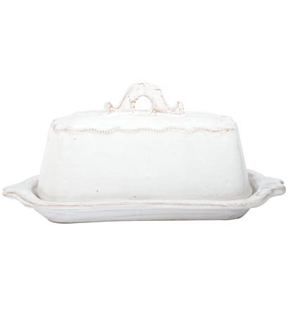 Vietri Bellezza White Butter Dish Available In White Only (Butter Dish Clay compare prices)