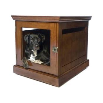 DenHaus TownHaus Indoor Dog House And End Table, Mahogany, Medium