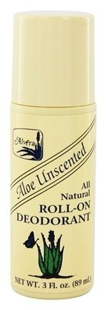 Unscented Natural Aloe (Alvera All Natural Roll-On Deodorant, Aloe Unscented, 3 oz, Pack of 3)