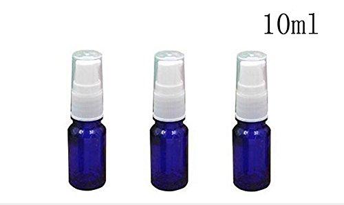 3PCS Empty Refillable Glass Lotion Pump Bottle Container Shower Gel Essential Oil Shampoo Sample Press Bottle Jar Pot Cosmetic Make up Dispenser (10ml/0.34oz)