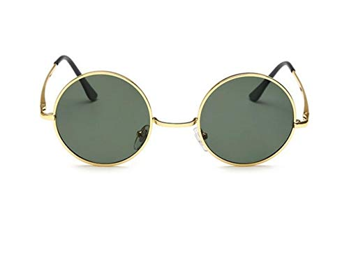 de de la conduce sol estilo del los redondo polarizadas gafas protección para Gafas hombres de viajar que UV400 Marco clásico Golden unisex It0x0rqwT