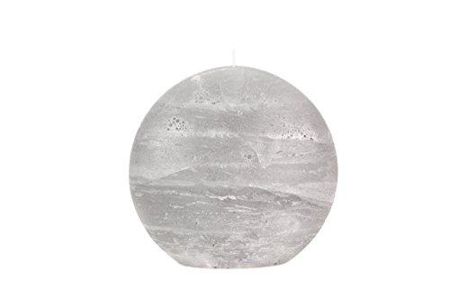 Gray Rustic Candle - Disc Pillar - 5.5