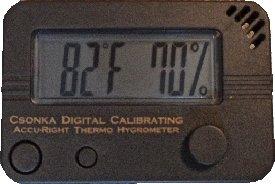 *NEW* Csonka Digital Calibrating Accu-Right Thermo Hygrometer, Grey
