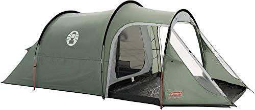 🥇 Coleman Coastline 3 Plus Tienda de 3 plazas de campaña de túnel ligera para camping o trekking y senderismo con porche