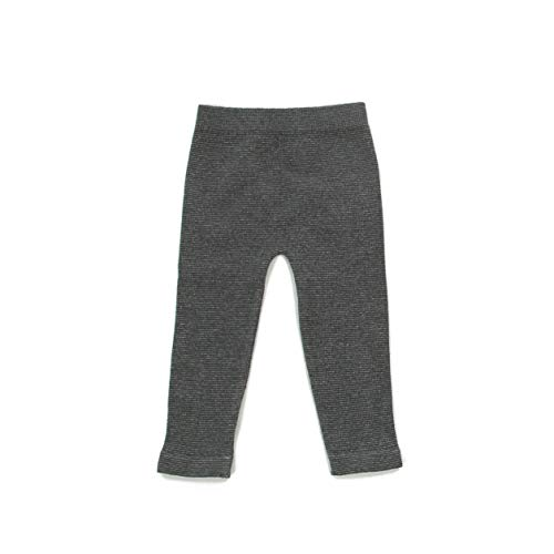 Silky Toes Baby Leggings, Toddler Seamless Soft Cotton Knit Pants for Girls and Boys (2-4 Years, Grey/Silver ()