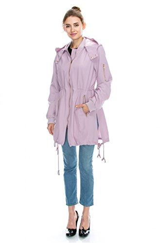 JEZEEL Womens Zipper Pocket Detail Hooded Waterproof Jacket. (DC0166)