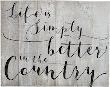 LIFE IS SIMPLY BETTER IN THE COUNTRY RUSTIC WHITE BARN WOOD SIGN 14