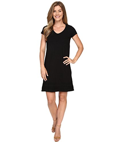 - Mod-O-Doc Women's Cotton Slub Jersey Short Sleeve T-Shirt Dress, Black, Small
