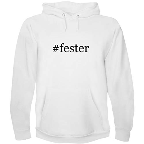 The Town Butler #Fester - Men's Hoodie Sweatshirt, White, Small ()