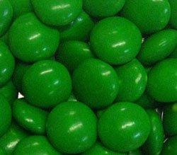 Dark Green Milk Chocolate Gems (Lentils) 5LB Bag by The Nutty Fruit House