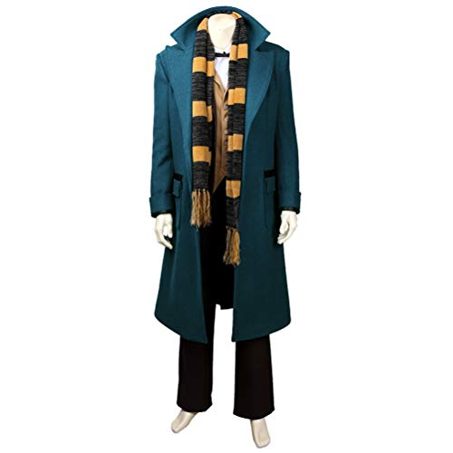CosplayJet Men's Cosplay Costume for Fantastic Beasts and Where to Find Them Movie Newt Deluxe Full Body Set Halloween Costume (Maze Runner Costume)