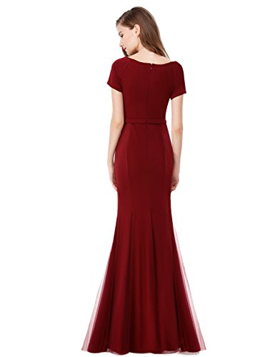 Ever Pretty - Vestido - Estuche - para mujer rojo borgoña 36