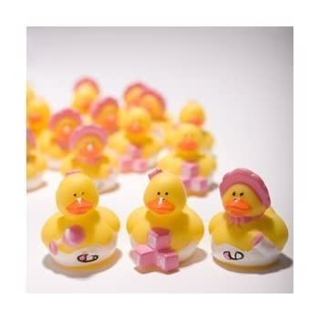 Amazon.com: Lot de 36 rosa Mini Rubber Ducky Patos ~ Baby ...