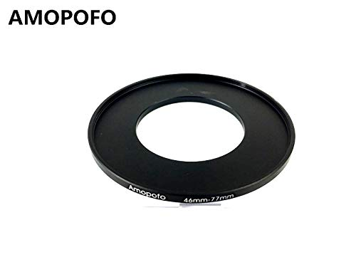 46-77mm /46mm to 77mm Step Up Ring Filter Adapter for Canon Nikon Sony UV, ND, CPL, Metal Step Up Ring Adapter SHEYOU
