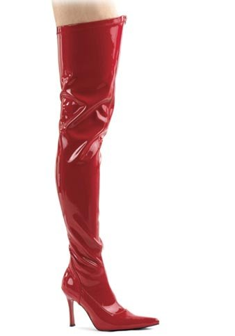 Funtasma by Pleaser Women's Lust-3000 Boot,Red Str Patent,7 M - 3000 Thigh High Boots