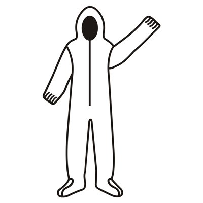 Defender II Standard White Microporous Disposable Coveralls, Hood & Boots (QTY/25) Medium MP400M