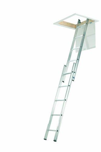 Abru 36000 2 Section Aluminium Loft Ladder, Comfort D-Shaped Rungs, Inc....