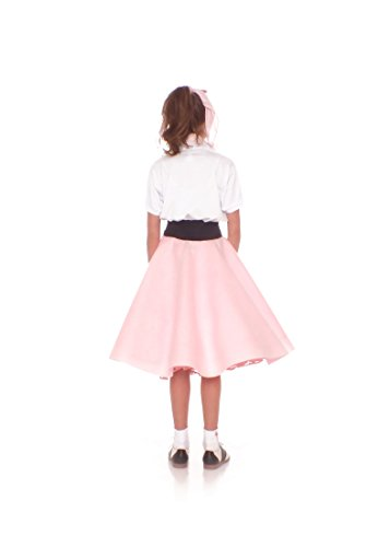 Poodle Skirt for Girls Size Small 4/5/6 Light Pink by Hip Hop 50s Shop (Image #3)
