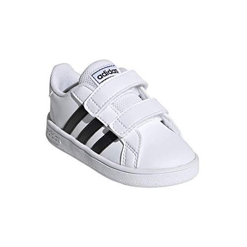 adidas Baby Grand Court Sneaker, Black/White, 7K M US Toddler